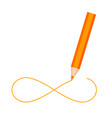color pencil drawing infinity symbol isolated vector image