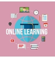 Concept for distance education online learning vector image vector image