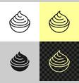 cream cheese line icon soft cream in a small bowl vector image vector image