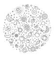 Detox diet vegetarian food concept vector image vector image