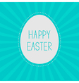Easter egg Sunburst background Card vector image vector image