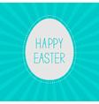 easter egg sunburst background card vector image vector image
