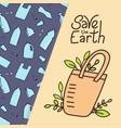 eco bag zero waste concept vector image