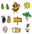 Element thanksgiving set of doodles vector image vector image