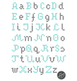 Embroided alphabet vector image vector image
