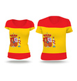Flag shirt design of Spain vector image vector image