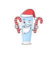 friendly eye cream dressed in santa cartoon vector image vector image