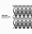 geometric background with ornament of wavy lines vector image vector image
