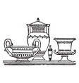 grecian vases is a vessel of various forms and vector image vector image