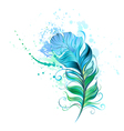 Green Feather vector image