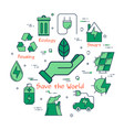 green save the world concept vector image vector image