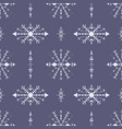 hand-drawn blue seamless pattern in tribal style vector image