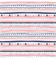 hand drawn seamless ethnic pattern vector image vector image