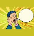 head of a man screaming vector image vector image