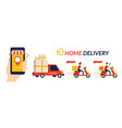 home delivery service online shopping vector image vector image