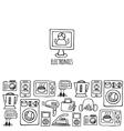 Home electronics sketch horizontal banner vector image vector image