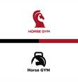 horse gym logo vector image