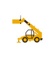 icon telehandler construction machinery vector image vector image