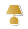 lamp sign golden gradient vector image