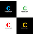letter c two dots logo icon flat design vector image