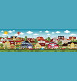 life in the suburbs summer day vector image