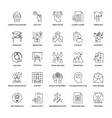 line icons project management pack vector image