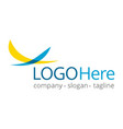 logotype about fly and travel vector image vector image