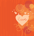 Love background with abstract hearts vector image