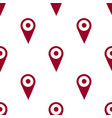 map pin icon seamless pattern isolated on white vector image vector image