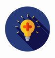 medical bulb icon create idea icon vector image
