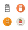 open cigarette pack icon vector image vector image