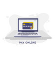 Pay online concept on modern technology devices