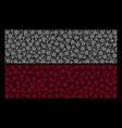 poland flag pattern of star pentagram items vector image vector image