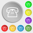 retro telephone handset icon sign Symbol on eight vector image vector image