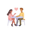 romantic couple chatting vector image vector image