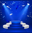 round stage podium stage backdrop festive podium vector image vector image