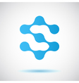 S letter - molecule logo vector image vector image