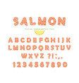 salmon font isolated on white vector image