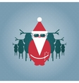 Santa and his Reindeer Gang vector image vector image