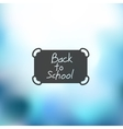 school icon on blurred background vector image