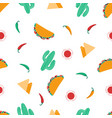 seamless taco pattern vector image vector image