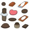 set chocolate vector image