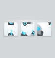 set creative minimalist hand drawn abstract vector image