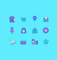 set simple line icons black friday vector image