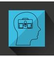 silhouette profile business suitcase concept vector image