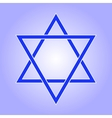 Star of David icon vector image