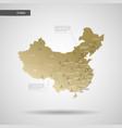 stylized china map vector image