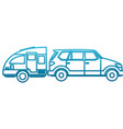 suv sport vehicle vector image vector image