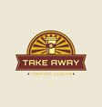 take away concept coffee logo vector image