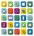 Time color icons with long shadow vector image